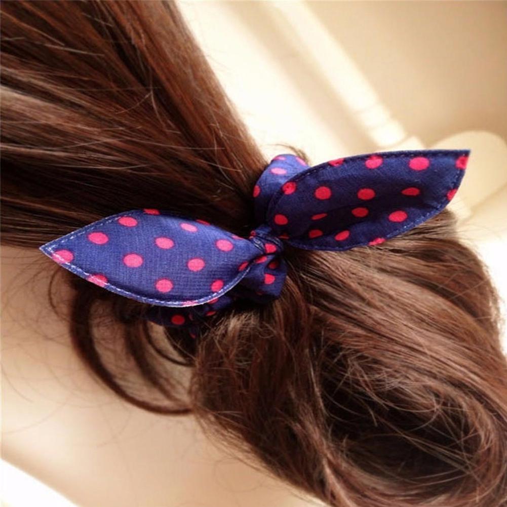 5Pcs Girls Fashion Polka Dot Elastic Hair Bands Headwear Hair Rope Scrunchies Female Ponytail Hold Hair Accessories Random Color in Girl 39 s Hair Accessories from Apparel Accessories