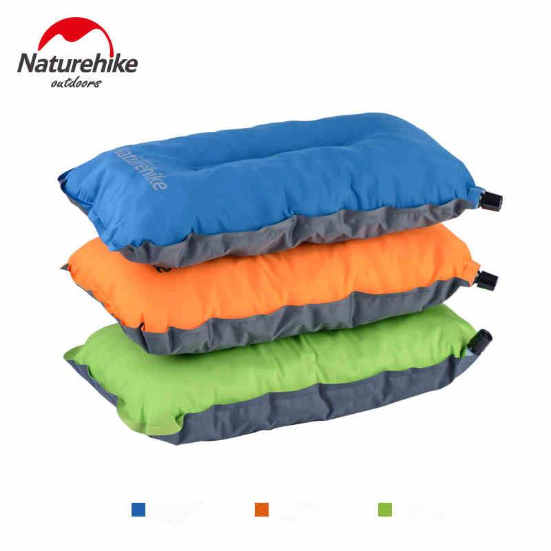 Naturehike Compressed Pillow High Stretch Filled Sponge Automatisk Opblåsbare Puder Travel Camping Outdoor