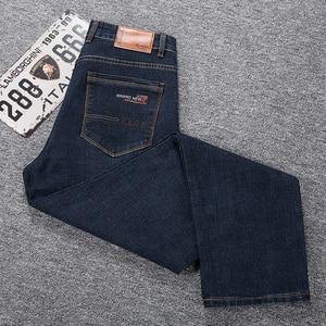 Image 5 - Grote Maat 42 44 46 2020 Voorjaar Nieuwe Mannen Jeans Business Casual Stretch Straight Denim Broek Broek Mannen Merk kleding