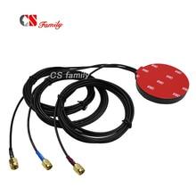 Antenas 3g 4g wifi gps combo externo ip67, wi fi reserva de polaridade sma macho, (buraco interno)/lte/gps sma pino interno masculino