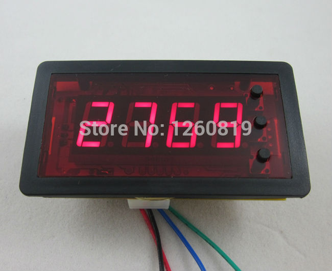 DC12V 4Digit Red LED Counter Meter with Relay output+Proximity Switch Sensor NPN