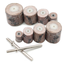 Freeshipping 10 pcs sand paper polishing bits abrasive mops-wheel spindle mops sand paper wheel mounted flap wheels