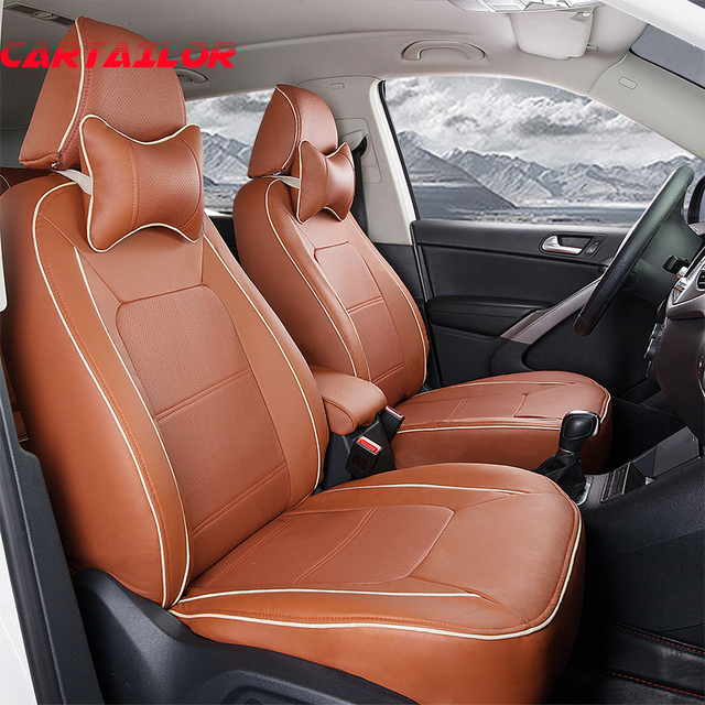 Cartailor Custom Fit Seat Covers For Audi Q7 Quality Pu Leather Car