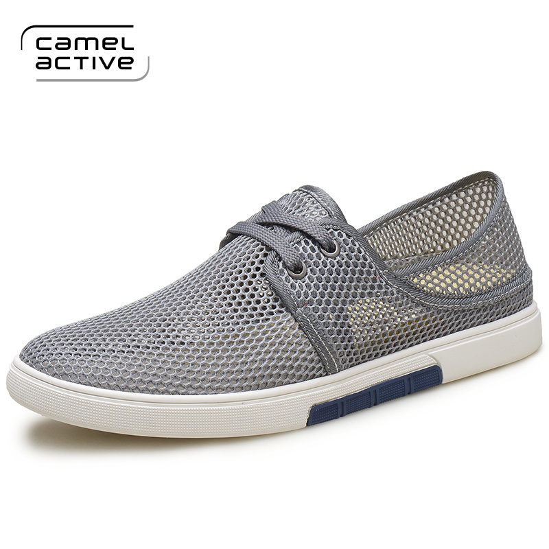 Camel Active Mens Shoes 2017 New Breathable Mesh Flat Men's Fashion Casual  Solid Male Footwear For