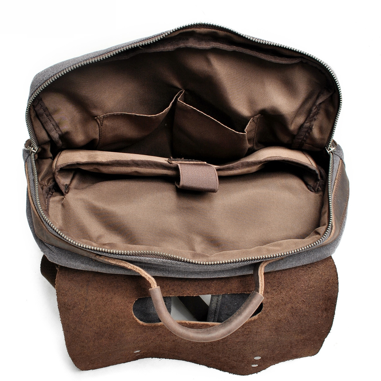 428aa94f94 Pria Kasual Canvas Ransel Vintage Tas Sekolah Kapasitas Besar Tas Travel  Wanita Muda Kulit Laptop Backpack Rucksack Mochila di Ransel dari Bagasi    Tas ...