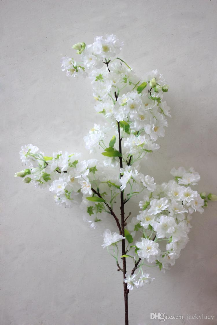 1 meter long artificial simulation cherry blossom flower bouquet 1 meter long artificial simulation cherry blossom flower bouquet wedding arch decoration garland home decor supplies in artificial dried flowers from home junglespirit Gallery