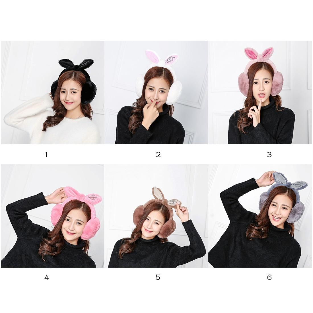 New Elegant Rabbit Fur Winter Earmuffs For Women Warm Earmuffs Ear Warmers Gifts For Girls Cover Ears