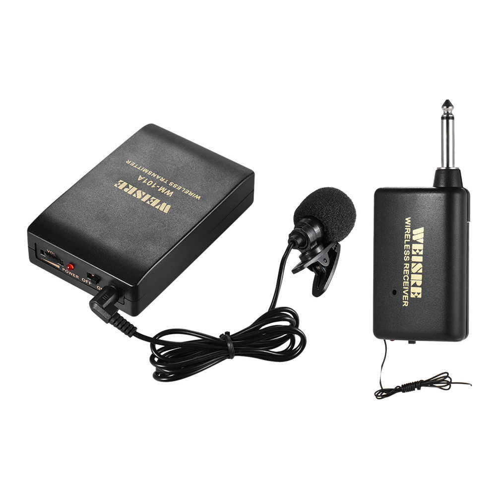 Connect how to amplifier to microphone wireless receiver Problems With