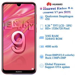 Image 3 - הגלובלי הקושחה Huawei ליהנות 9 Huawei Y7 פרו 2019 MobilePhone 6.26 אינץ Snapdragon 450 אוקטה Core אנדרואיד 8.1 פנים נעילה 4000mAh