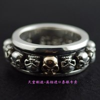 925 чистого серебра кольцо apotropaic транспортное кольцо череп