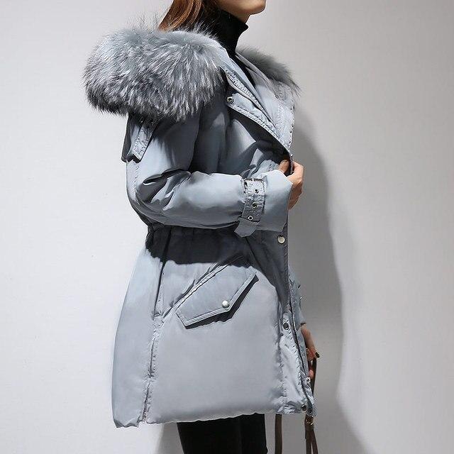 dc84a13a8 € 53.82 |2017 Femmes Vers Le Bas Veste Manteau A Doudoune Femme Longue À  Capuchon Chaud Manteau D'hiver dans Manteaux en duvet de Mode Femme et ...