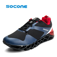 2017 Hot Socone Cool Breathable Running Shoes Men Sneakers Cushioning Outdoor Sport Shoes Professional Training Shoes