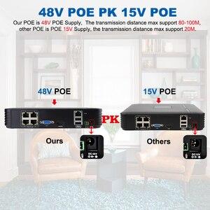 Image 2 - Smar نظام المراقبة المنزلية 4CH 1080P POE 48 فولت NVR CCTV عدة 4 قطعة 2MP 20FPS كاميرا صغيرة على شكل قبة للباب IP PoE طقم NVR نظام الدائرة التلفزيونية المغلقة