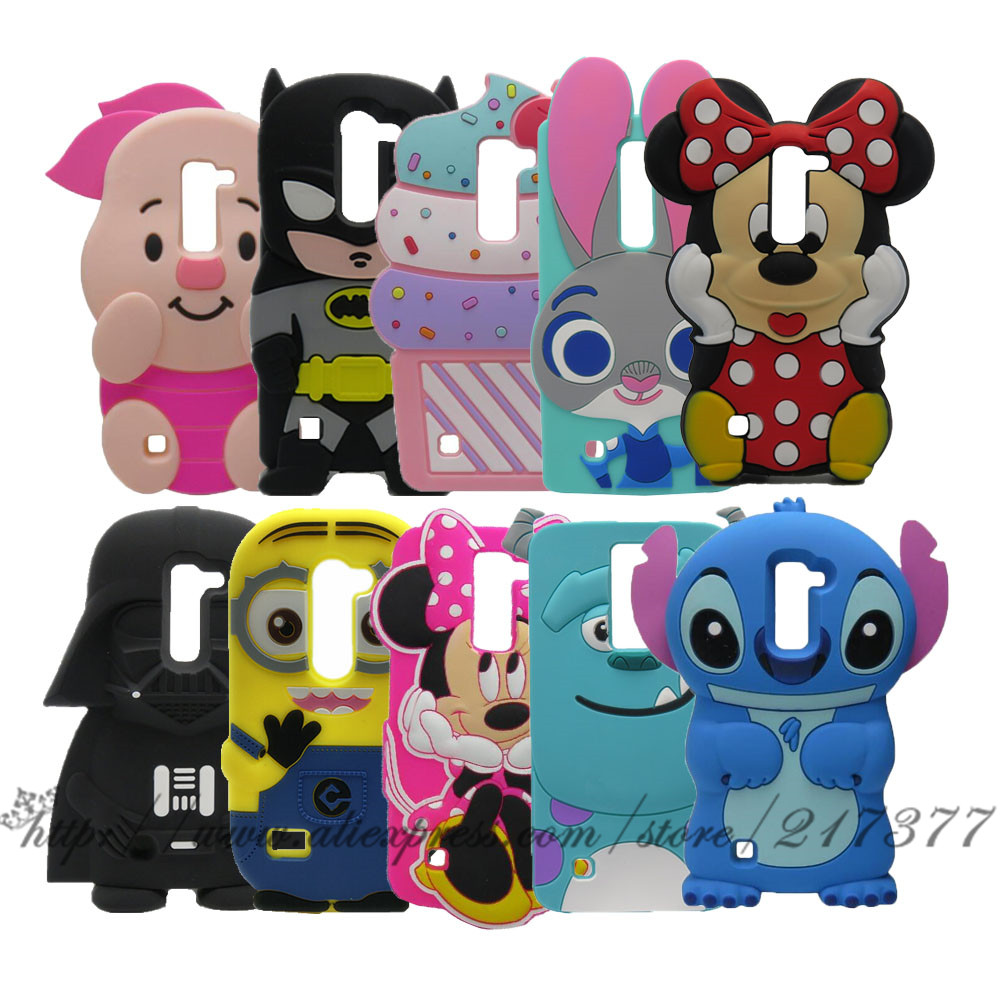 For G4 Mini case LG Magna C90 H520N H502F H500F 3D Stitch Minnie Batman Darth Vader Sulley Minions Silicone Cover For LG G4C