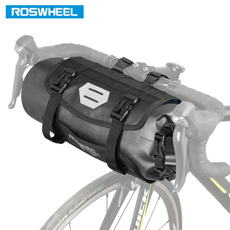 ROSWHEEL Black 3L Bike Bicycle Bag Front Tube Handlebar Waterproof Cycle Bags