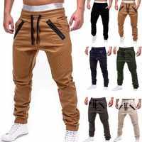 Nouveau pantalon solide décontracté pleine longueur Cargo pantalon hommes cordon Joggers pantalons de survêtement grande taille 4XL taille moyenne pantalon hommes Streetwear