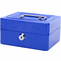 Mini Small Steel Safe Key Open Box Store Content Boxes Paper Piggy Bank Card Document Safes