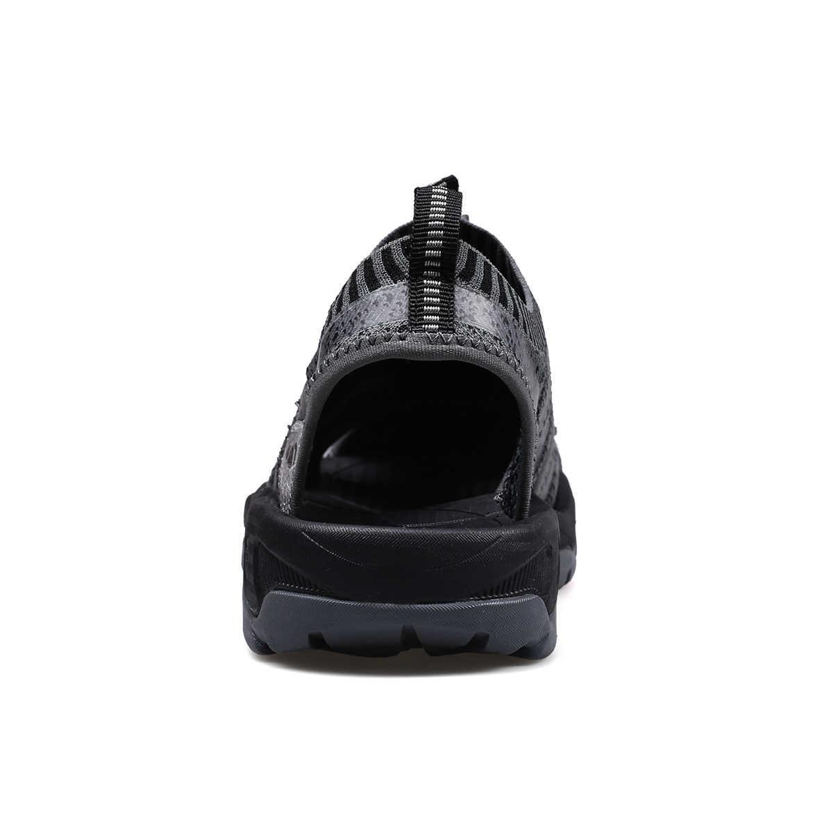 Yaz yeni erkek sandalet 2019 en çok satan adam açık rahat plaj ayakkabısı yüksek kalite moda elastik bant plaj terlikleri