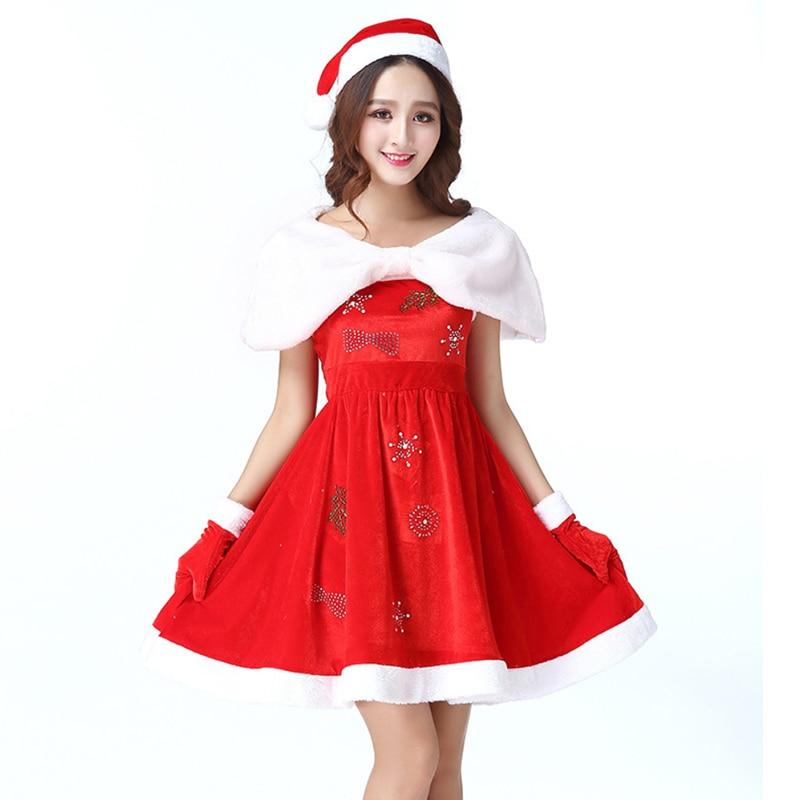 New Christmas Costumes Christmas Santa Claus Cosplay Costumes Christmas Party Women Costumes