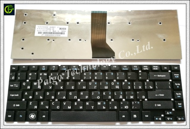 Russian Keyboard for Acer Aspire  V3-472 V3-472G V3-472P V3-472PG RU RU Black
