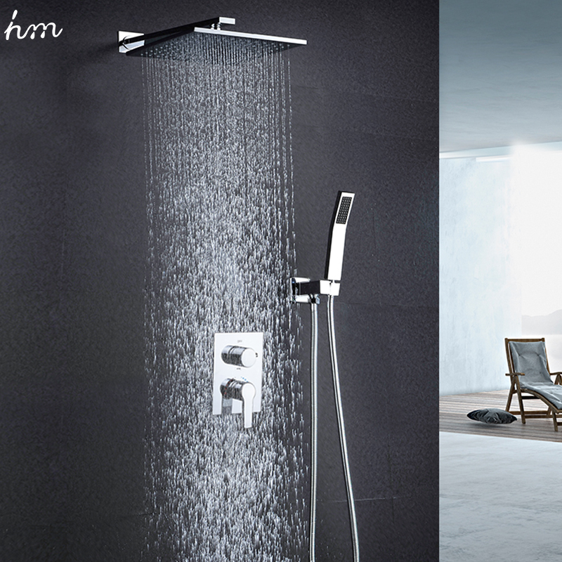 "Luxury Rain Showers aliexpress : buy hm 10"" rainfall shower head system polished"