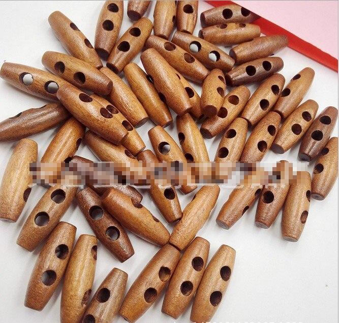 Geinne 25 шт. 2 отверстия деревянные пуговицы для шитья рога кнопки для пальто ткань аксессуары ремесло DIY и скрапбукинг 30 мм* 10 мм