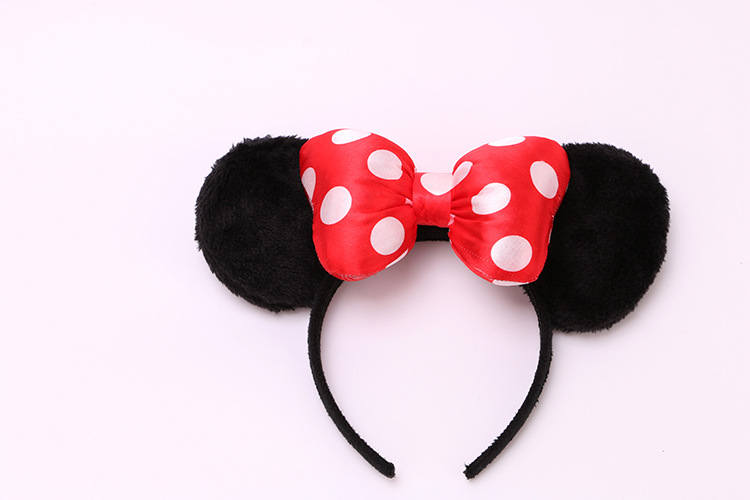 YUZEHD 1PC Children Hair Accessories Minnie Mouse Hair band Sequin Dot Bowknot Headband for Girls mouse headbands