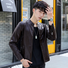Spring 2019 New Mens leather jacket slimming youth handsome street PU man coat men