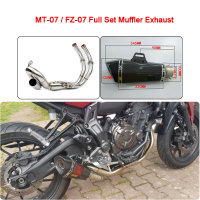 MT 07 MT07 FZ 07 XSR700 Motorcycle Full Set Muffler Exhaust System For Yamaha MT 07 FZ 07 MT07 XSR700 2013 2014 2015 2016 2017