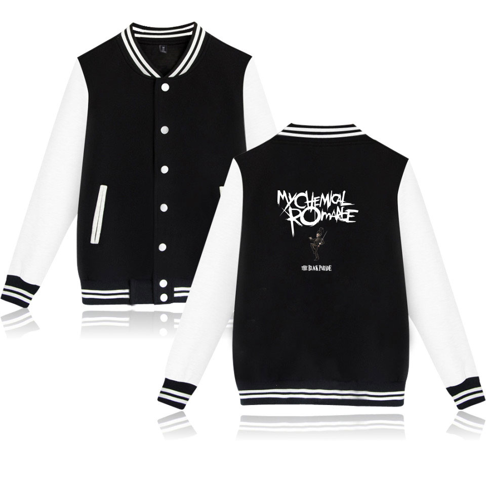 My Chemical Romance Baseball Jackets Bomber Jacket Men Women Sweatshirt Black Parade Punk Emo Rock Casual Hoodies Uniform Coat