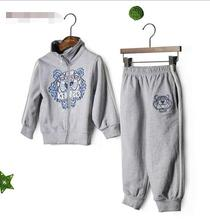 New Autumn winter Baby suit boys Animal embroidered Sportswear + sports pants suit kids 2pcs set wholesale