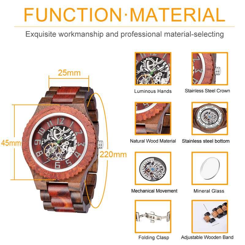 Wood Watch Quartz Watches Wooden Wooden Watch Men24