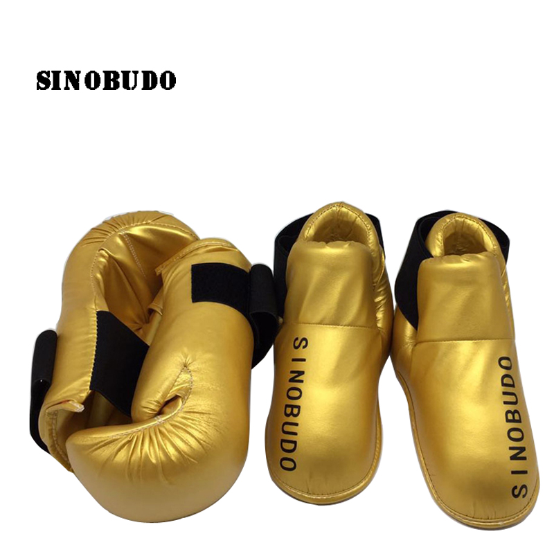 Hot Sale ITF TKD Training Protector Boxing Gloves Karate Muay Thai Taekwondo Hand and Foot Protector