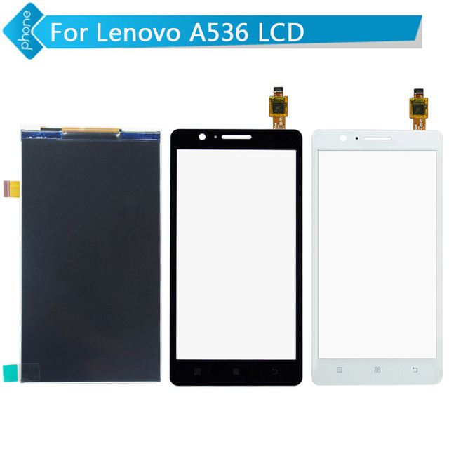 Para lenovo a536 display lcd + touch screen digitador black white