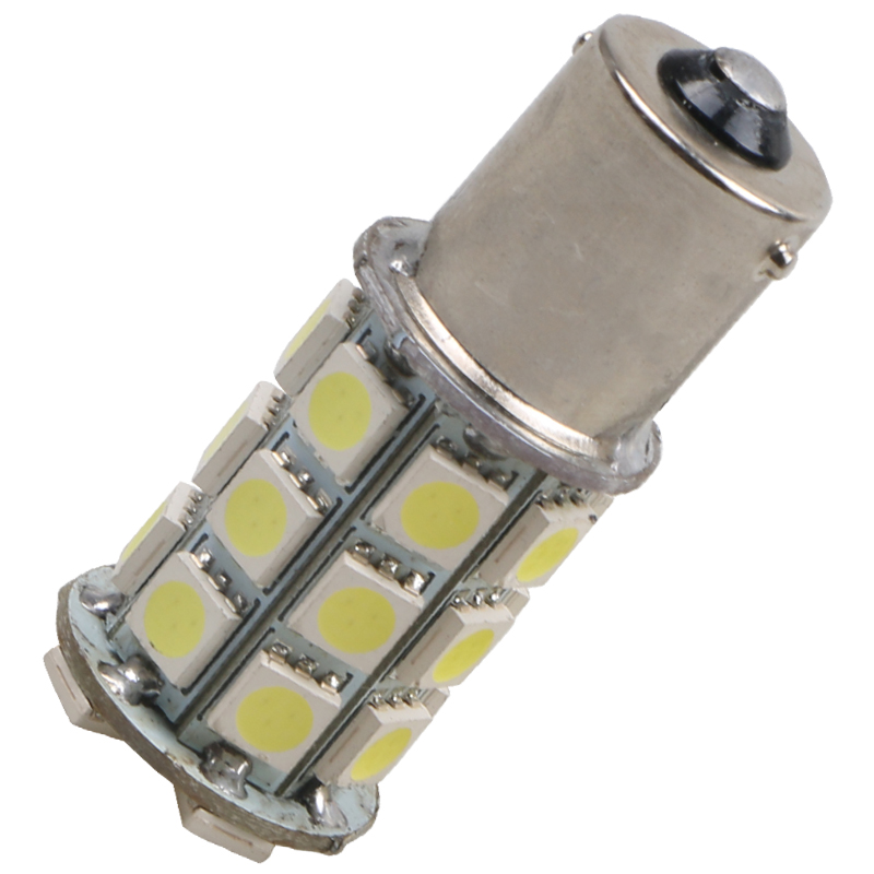 2x HQRP 1073 BAU15S 18 SMD Amber Tail Turn Signal 18 LED Car Light Bulb Lamp