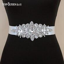 TOPQUEEN S01 cheap designer belts Rhinestone Bridal Belt Waistband Dress Wedding Accessories Sash For 15 colour