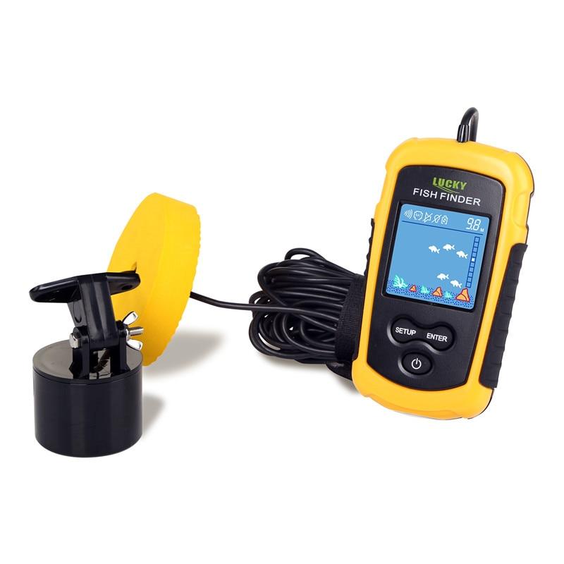 FF1108-1 chanceux Portable détecteur de poisson Sonar sondeur alarme transducteur sondeur 0.7-100 m pêche écho sondeur - 5