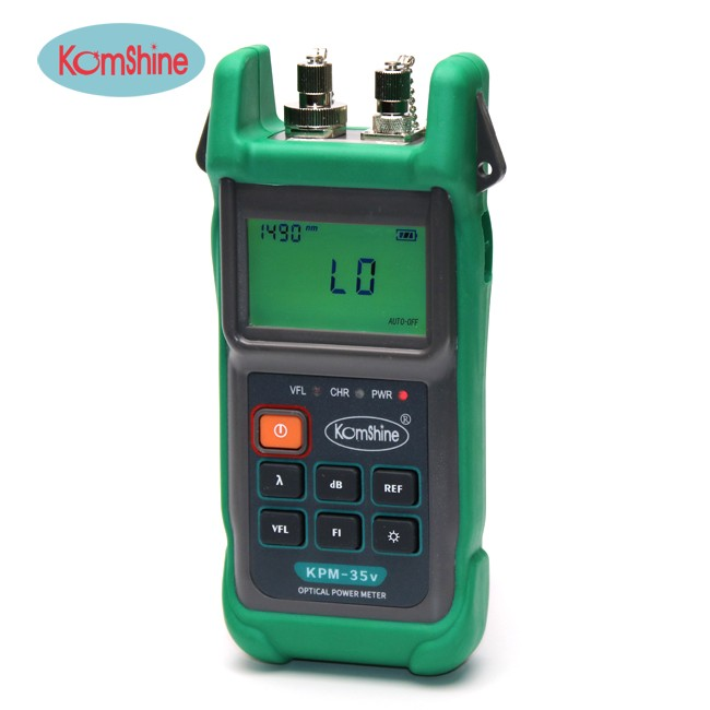 2-in-1 Optical Power Meter & Visual Light So KOMSHINE KPM-35V with FC ,SC,LC connectors2-in-1 Optical Power Meter & Visual Light So KOMSHINE KPM-35V with FC ,SC,LC connectors