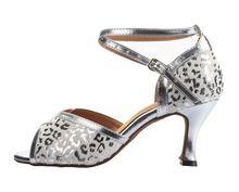 Wholesale Ladies Girls White Leopard Print Ballroom Latin Samba Salsa Ceroc Tango Dance Shoes All Size