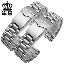 20mm Stainless Steel Watchband Sport Bracelet Flat End Double Push Button Deployment Clasp replacement metal strap for TAG HEUER
