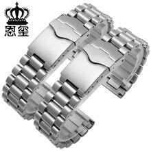 Correa de reloj de acero inoxidable de 20mm, pulsera deportiva, extremo plano, doble botón, cierre de despliegue, correa de metal de repuesto para TAG HEUER