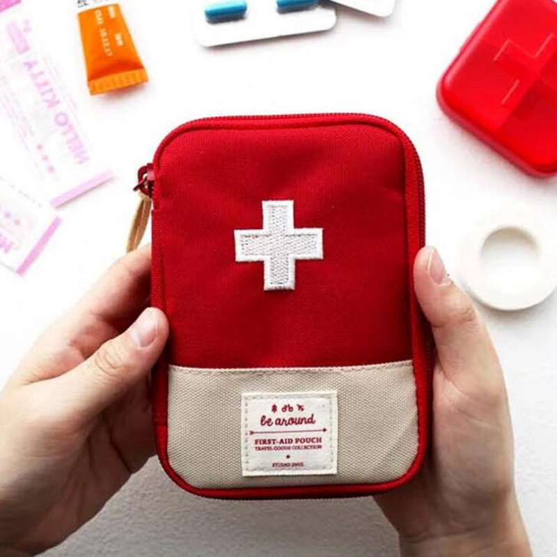 Splitters-Box Medicine-Bag First-Aid-Kit Travel-Accessories Function Cotton-Fabric Emergency-Drug