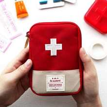 Function Portable First Aid Kit Travel Accessories Emergency Drug Cotton Fabric First Aid Medicine Bag Pill Case Splitters Box(China)
