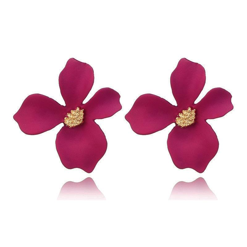 5-Colors-Spray-Paint-Flower-Stud-Earrings-For-Women-Fashion-Ear-Jewelry-Korea-Sweet-Lovely-Brincos (4)