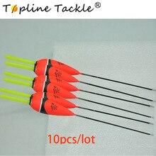 Topline Tackle 10Pcs/Lot Carp Fishing Floats Set Buoy Bobber Stick For Fish Vertical Float Pesca Accessories