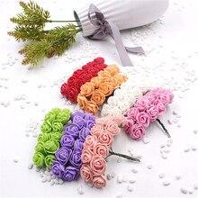 Фотография 144pcs/lot new Foam PE Rose Artificial Flower For Wedding Home Party Decoration Mariage DIY Scrapbook Rosa Garland Craft Flower