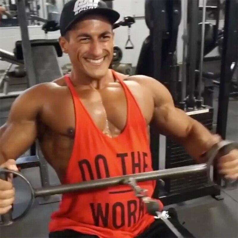Brand Bodybuilding Stringer   Tank     Tops   Mens Sportswear Vest Fitness Men gyms Clothing sleeveless shirts muscle singlets