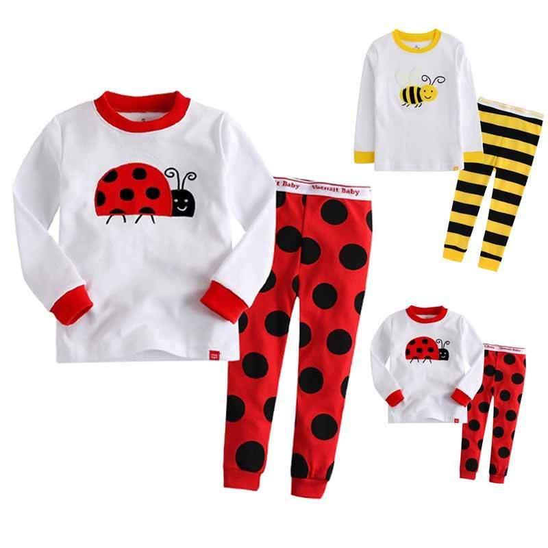 Children Cartoon Pajamas Boy Girl Pajamas Set Kids T Shirt