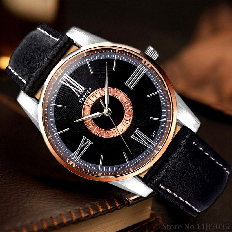 YAZOLE Watch Men Watches Business Luxury Famous Wrist Watches for Men Clock Male Wristwatch Hours Quartz Clock relogio masculino