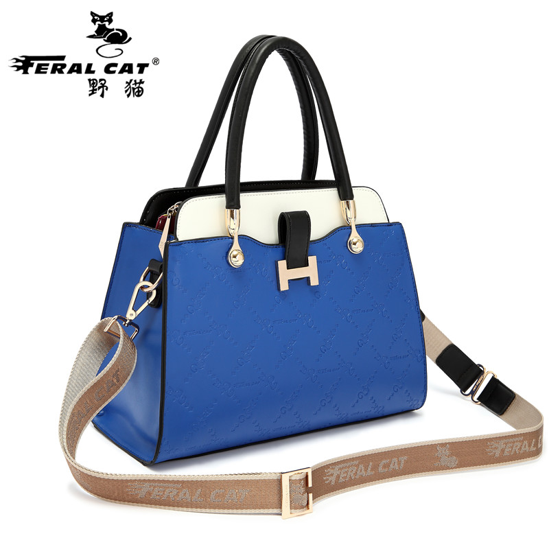 Free Shipping Women Bags 2017 Fashion Luxury Brand Tote High Quality Blue Orange Apricot Shoulder Bag Handbags 3013